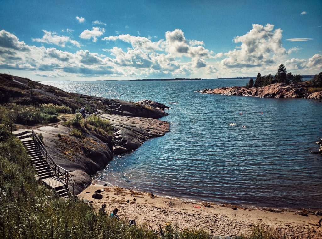 Swim area on Susisaari